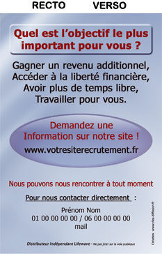 Flyers Recrutement Site Int. TRSI01LW-A6